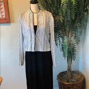 Alex Evenings Tank Maxi Dress with Glitter Jacket